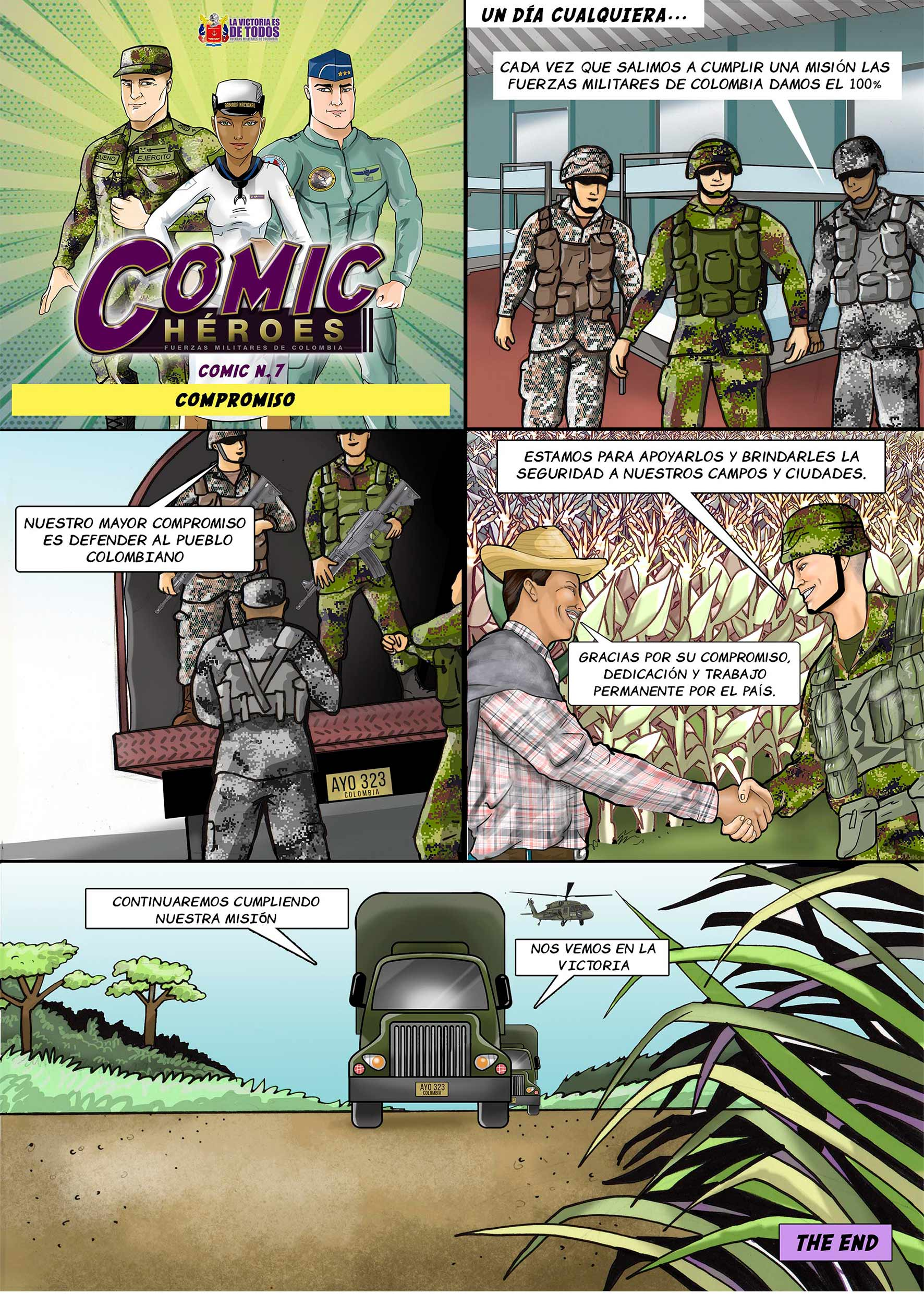 comic héroes Compromiso
